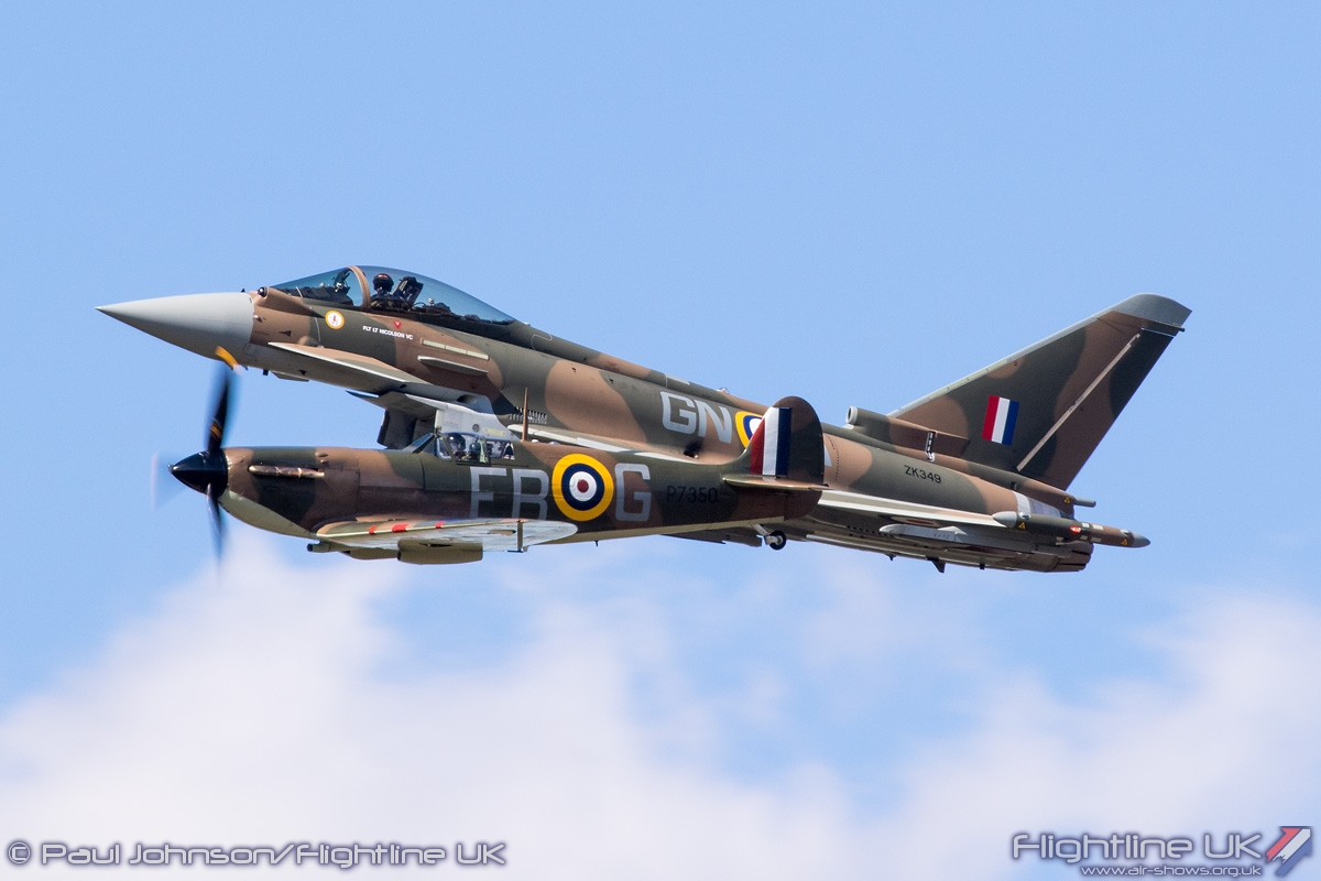 AIRSHOW NEWS: Typhoon and Spitfire to fly together for the first time at IWM Duxford