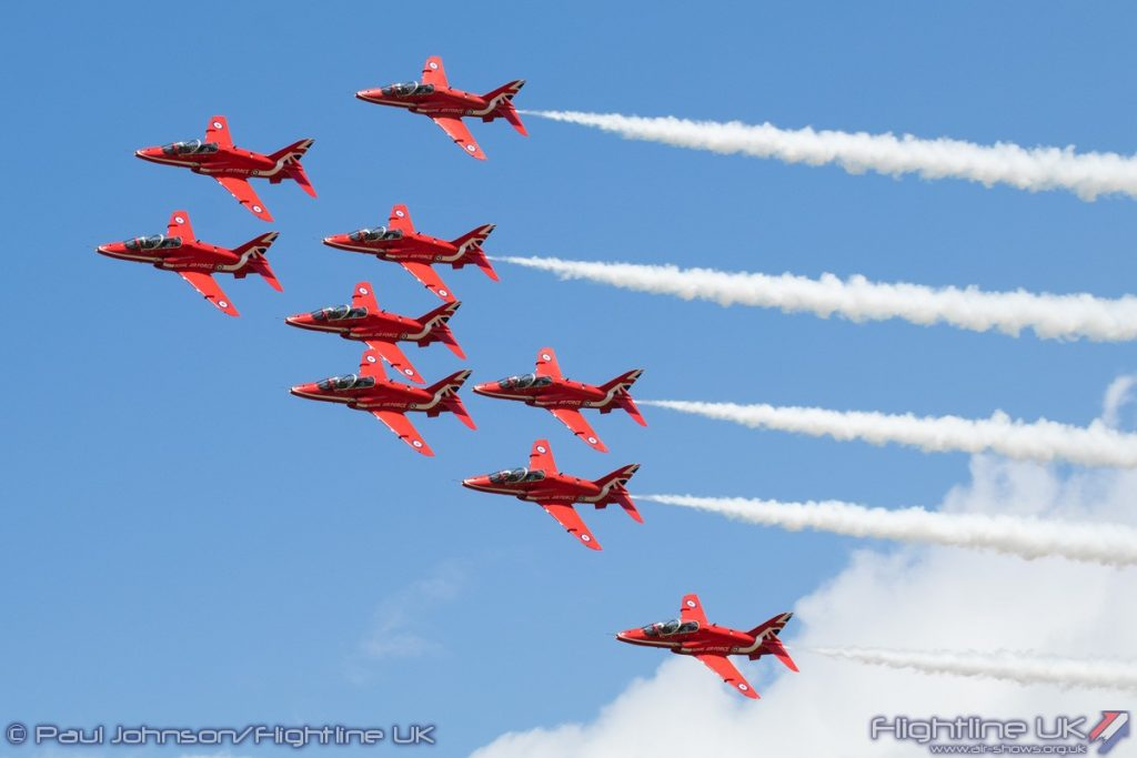 Royal AIr Force Aerobatic Team, The Red Arrows - Image © Paul Johnson/Flightline UK