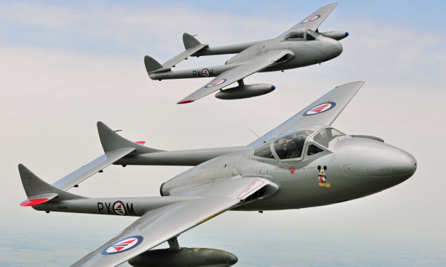 AIRSHOW NEWS: Vampire Pair to add bite to Scampton Airshow line-up!