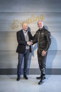 Georges Kern CEO Breitling Jacques Bothelin Leader of the Breitling Jet Team. (PPR/Breitling)
