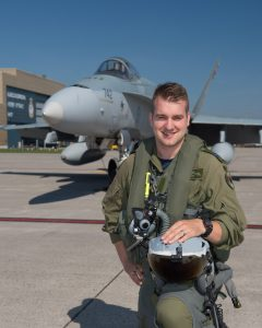 Captain Stefan Porteous has been appointed as the pilot for the 2018 CF-18 Demonstration Team. PHOTO: DND