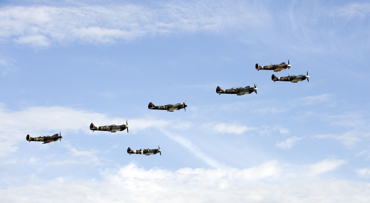 AIRSHOW NEWS: Spitfires take to the skies for The Battle of Britain Anniversary Air Show at IWM Duxford