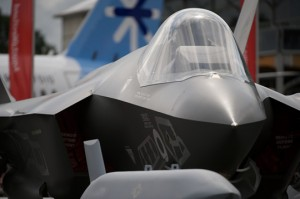 Replica F-35 at Farnbnrough International Airshow 2014