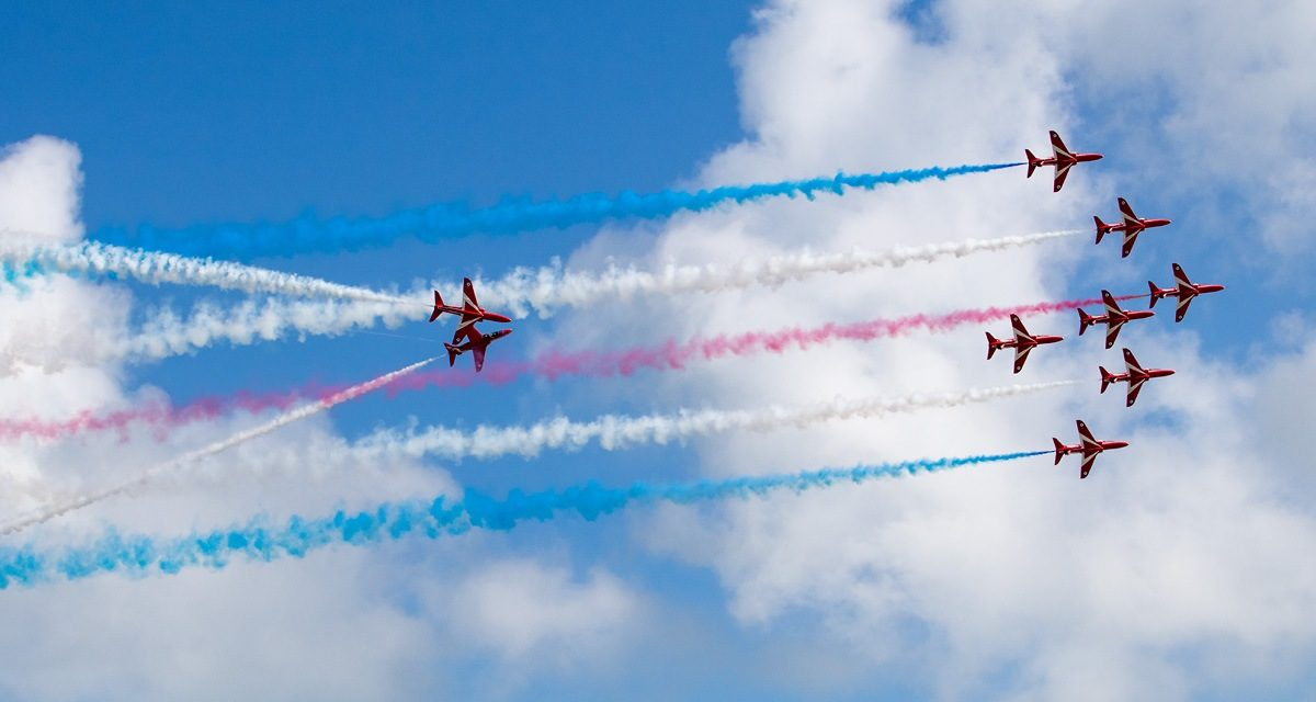 AIRSHOW NEWS: Red Arrows to Fly Triple Bill at Airbourne in 100th Year of RAF