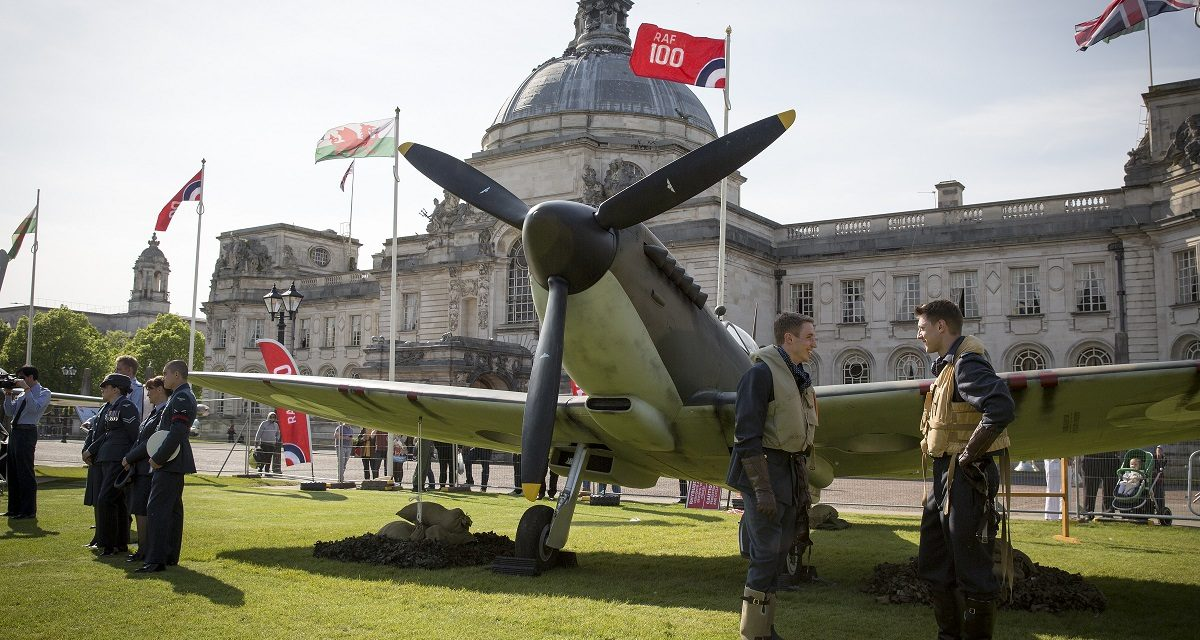NEWS: Lancaster bomber flypast heralds start of RAF100 Tour in Cardiff