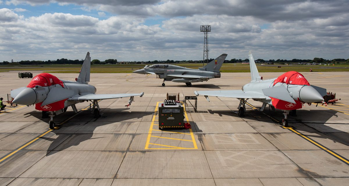AIRSHOW NEWS: RAF Typhoon Display Team receives distinctive red covers for 2021 Season